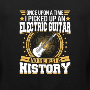 Electric Guitar And the Rest is History T-Shirt T-Shirts - Men's Premium Tank