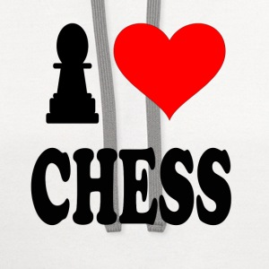 I Love Chess T-Shirts - Contrast Hoodie