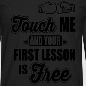 boxing: first lesson is free T-Shirts - Men's Premium Long Sleeve T-Shirt