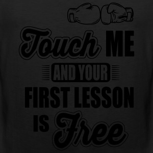 boxing: first lesson is free T-Shirts - Men's Premium Tank
