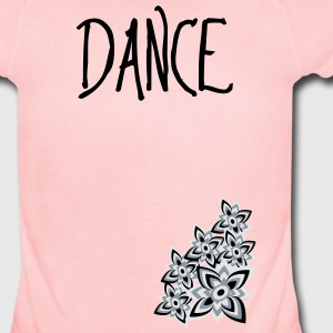 Dance (Flowers) Kids' Shirts - Short Sleeve Baby Bodysuit