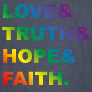 love & rainbow Hoodies - Vintage Sport T-Shirt