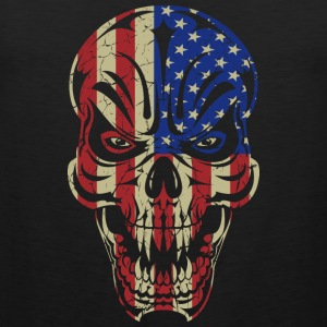 Badass Skull USA Flag Hoodies - Men's Premium Tank