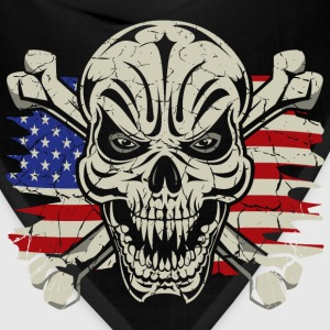 Skull Crossbones USA Flag Hoodies - Bandana