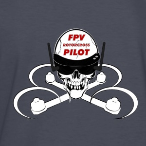 FPV Rotorcross Skull T-Shirt - Kids' Long Sleeve T-Shirt