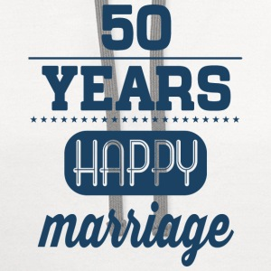 50 Years Happy Marriage T-Shirts - Contrast Hoodie