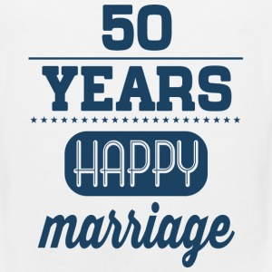50 Years Happy Marriage T-Shirts - Men's Premium Tank