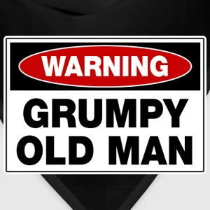Warning Grumpy Old Man T-Shirts - Bandana