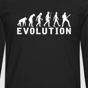 Bassist Evolution T-Shirt T-Shirts - Men's Premium Long Sleeve T-Shirt