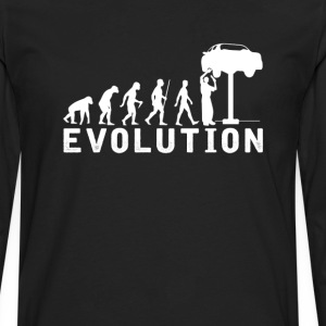 Car Mechanic Evolution T-Shirt T-Shirts - Men's Premium Long Sleeve T-Shirt