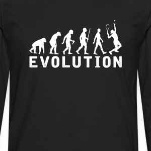 Female Tennis Evolution T-Shirt T-Shirts - Men's Premium Long Sleeve T-Shirt