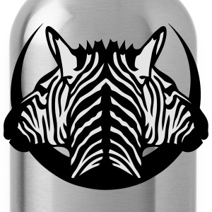 dual head zebra logo 5 T-Shirts - Water Bottle