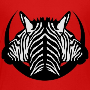 dual head zebra logo 5 Kids' Shirts - Toddler Premium T-Shirt