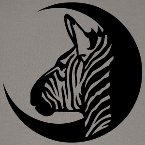 zebra profile head circle logo 1 T-Shirts - Baseball Cap