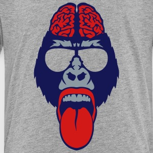 gorilla protruding tongue bezel brain Kids' Shirts - Toddler Premium T-Shirt