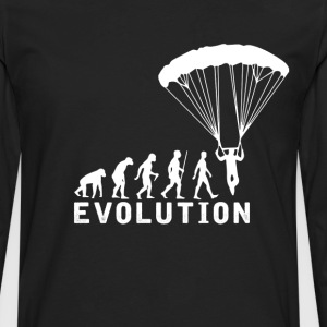 Paragliding Evolution T-Shirt T-Shirts - Men's Premium Long Sleeve T-Shirt