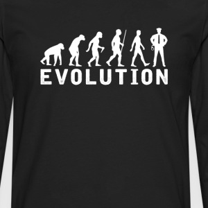 Policeman Evolution T-Shirt T-Shirts - Men's Premium Long Sleeve T-Shirt