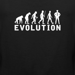 Policeman Evolution T-Shirt T-Shirts - Men's Premium Tank
