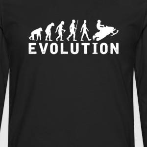 Snowmobile Evolution T-Shirt T-Shirts - Men's Premium Long Sleeve T-Shirt