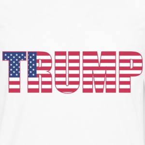 Trump - US Flag - Men's Premium Long Sleeve T-Shirt