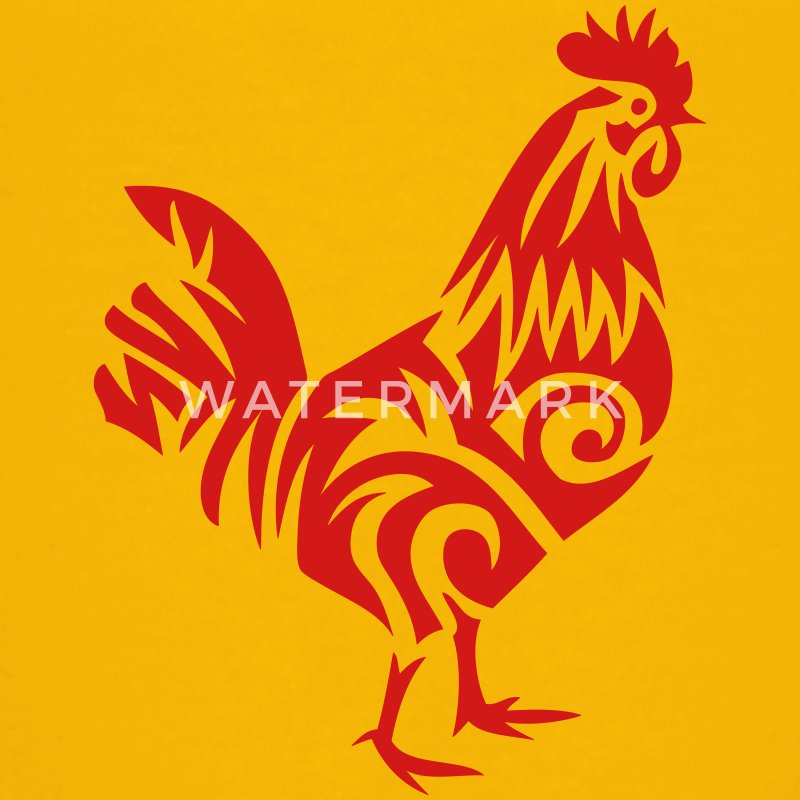 tribal cock rooster 107 Kids' Shirts - Kids' Premium T-Shirt