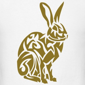 tribal rabbit hare 07 Hoodies - Men's T-Shirt