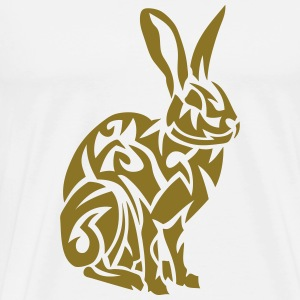tribal rabbit hare 07 Hoodies - Men's Premium T-Shirt