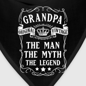 Grandpa The Man The Myth The Legend T-Shirt T-Shirts - Bandana