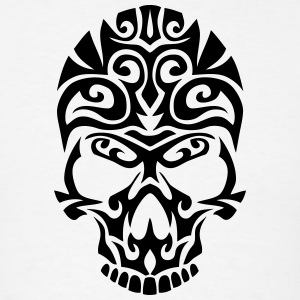 death tribal skull dead heath Hoodies - Men's T-Shirt