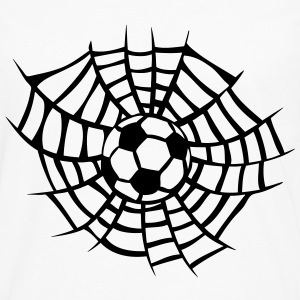 spider web soccer football T-Shirts - Men's Premium Long Sleeve T-Shirt