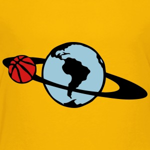 ring basketball blue planet earth turns Kids' Shirts - Toddler Premium T-Shirt