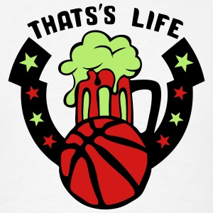 that life basketball beer logo 1 Long Sleeve Shirts - Men's T-Shirt
