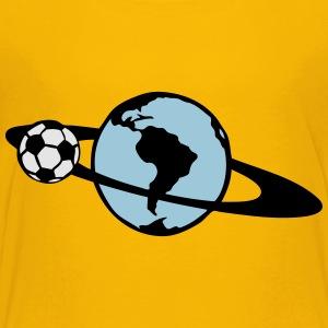 ring soccer blue planet earth turns 104 Kids' Shirts - Toddler Premium T-Shirt