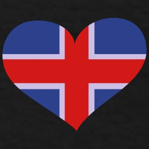 Iceland Heart; Love Iceland Sportswear - Men's T-Shirt