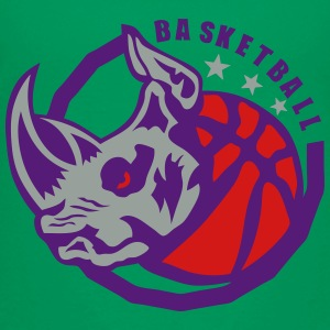 basketball club logo rhinoceros ball Kids' Shirts - Toddler Premium T-Shirt