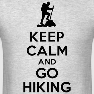 Keep calm go hiking Sportswear - Men's T-Shirt