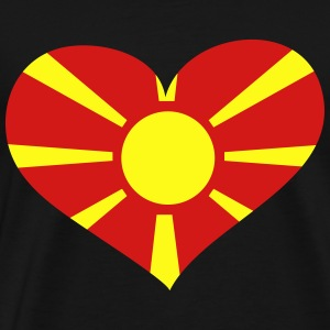 Macedonia Heart; Love Macedonia Long Sleeve Shirts - Men's Premium T-Shirt
