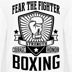 boxing: fear the fighter T-Shirts - Men's Premium Long Sleeve T-Shirt