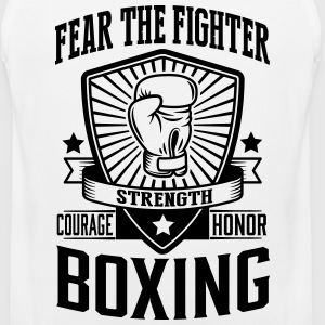 boxing: fear the fighter T-Shirts - Men's Premium Tank