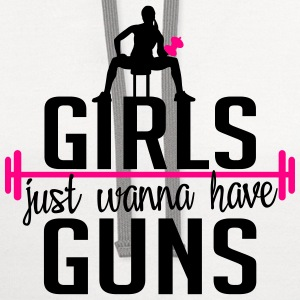 Fitness: girls just wanna have guns Tanks - Contrast Hoodie