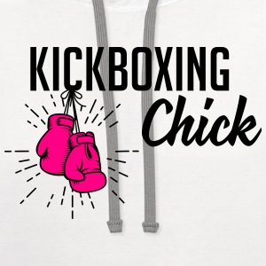 kickboxing chick T-Shirts - Contrast Hoodie