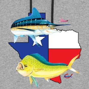 Texas Marlin and Dolphin  T-Shirts - Colorblock Hoodie