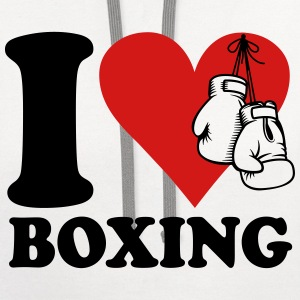 I love boxing T-Shirts - Contrast Hoodie