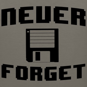 Never forget floppy disk T-Shirts - Men's Premium Tank