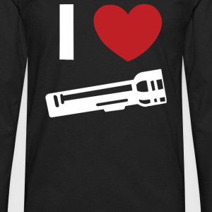 I Love Alan Wake Video Game Flashlight - Men's Premium Long Sleeve T-Shirt
