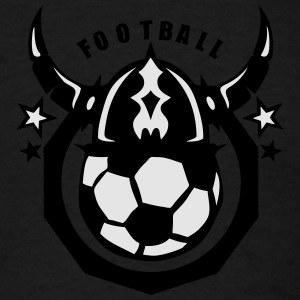 soccer club viking helmet logo ball Long Sleeve Shirts - Men's T-Shirt