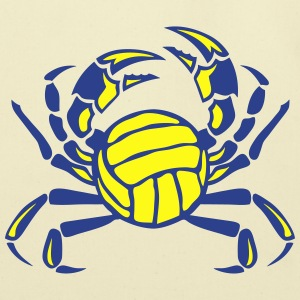 crab volleyball club logo T-Shirts - Eco-Friendly Cotton Tote