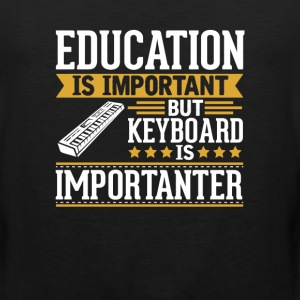 Keyboard Is Importanter Funny T-Shirt T-Shirts - Men's Premium Tank