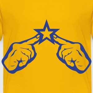 hand finger pointing on star 2 Kids' Shirts - Toddler Premium T-Shirt