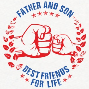 Father and son best friends for life - Contrast Hoodie